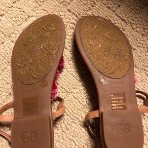 GB girls Shoes - NWOT GB Girls Tassel Sandals Size 5M